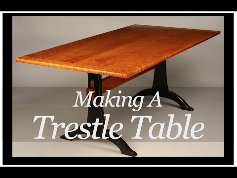 Trestle Table Building Process Handmade by Doucette and Wolfe Furniture makers