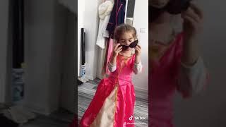 Funny kids, fashion baby girl princess, Briana show