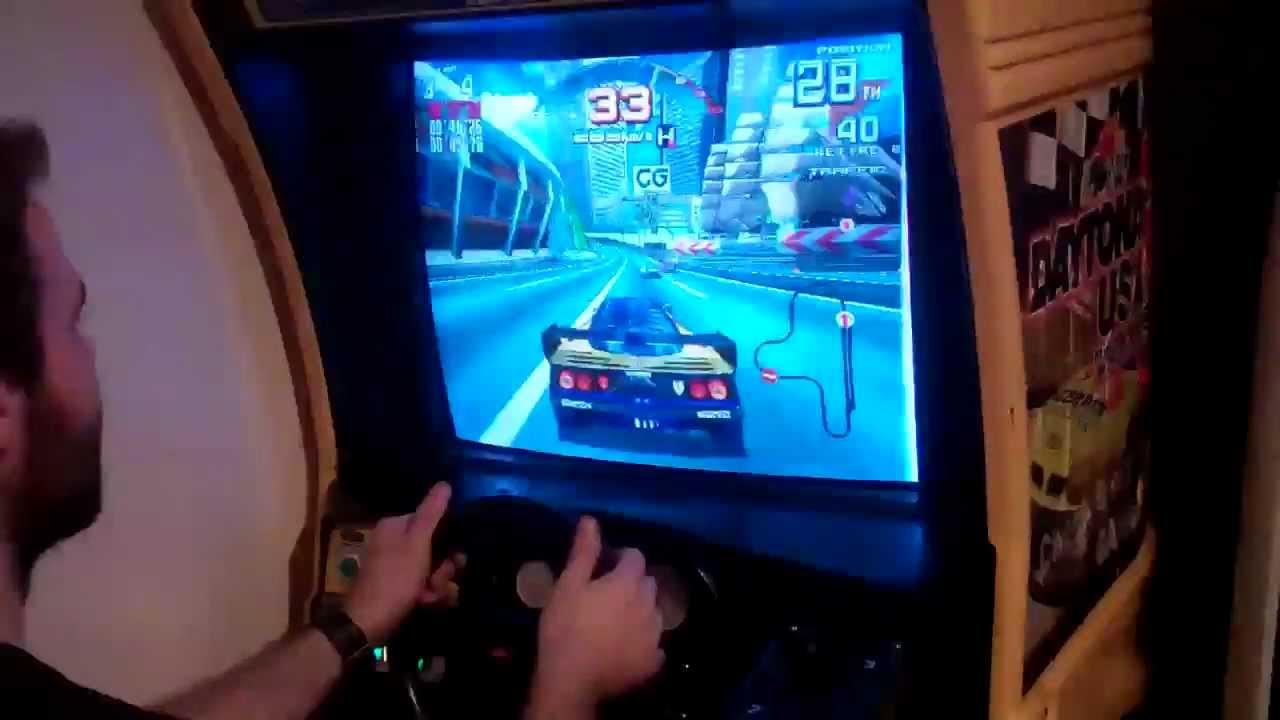 Sega Arcade Racing Emulator Cabinet Real Daytona Force