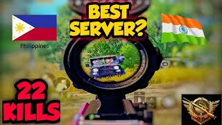 SUPER RUSH GAMEPLAY /22 KILLS PHILIPPINES AND INDIA TOGETHER   PUBG MOBILE