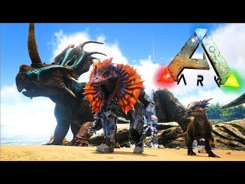 ARK COMANDOS NUEVAS SKINS Brachiosaurus,Stygimoloch,Styracosaurus Y Dilophosaurus