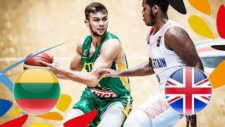 Lithuania v Great Britain - Full Game - Game 9-10 - FIBA U20 European Championship 2018