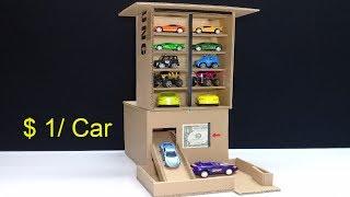 Amazing $ 1 per Car! Car Vending Machine - How to make Car Vending Machine for sheet $ 1