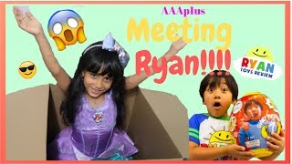 I MAILED MYSELF TO RYAN TOYSREVIEW to play with RYAN!!