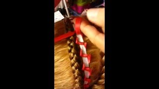 Encintado Corbatin Para Decorar Trenzas - Bowtie Ribbon Weave for Decorating Braids