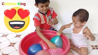 Learn Colors With Babies And Balloons | Balloon Video For Kids