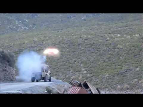 TOW Missile Attack on Hillside, Afghanistan