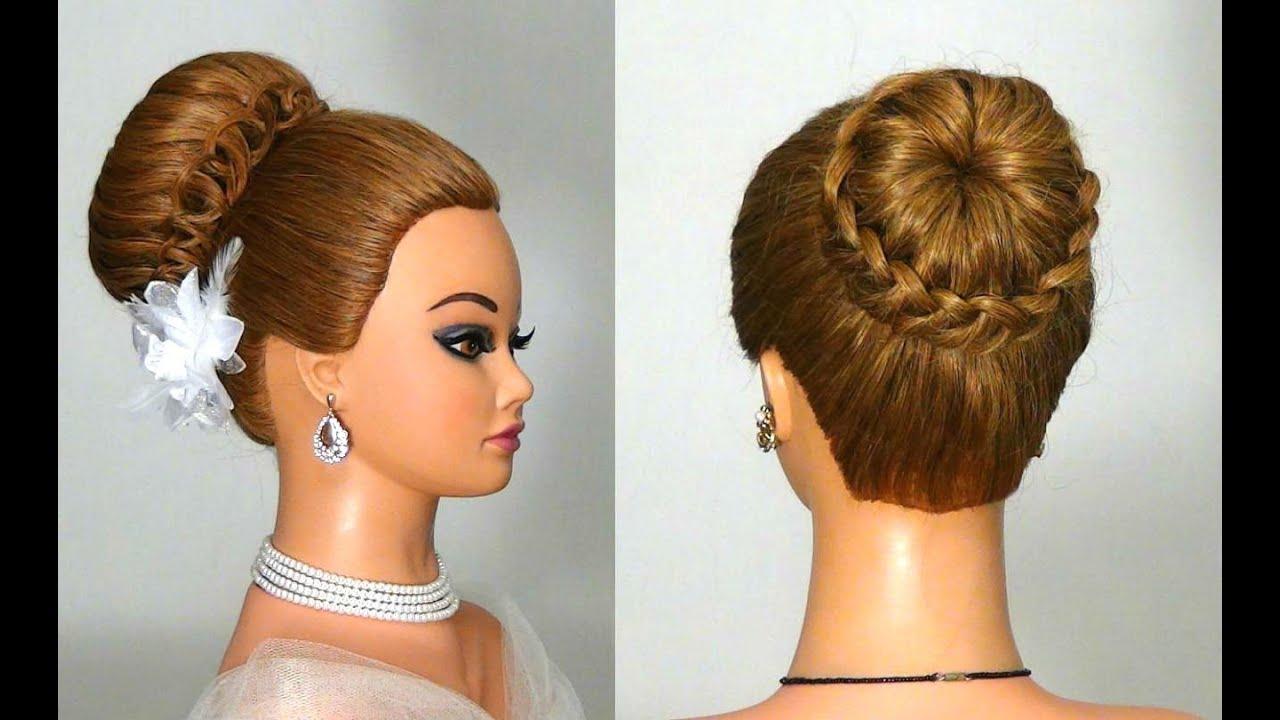 Вечерние причёски на средние волосы фото в плетение