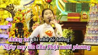 Karaoke Xin Thành Tâm Sám Hối - Bé Ngọc Ngân