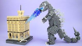 How to Build the Ginza Wako Building and Godzilla Update   Custom LEGO Ideas Kaiju