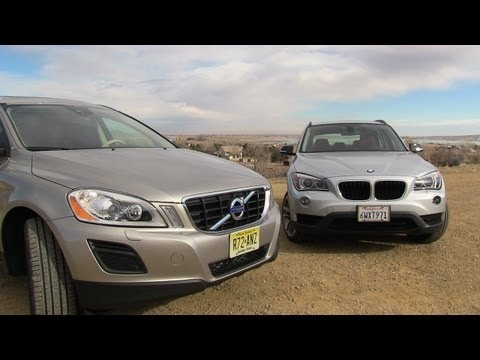 2013 Volvo XC60 versus BMW X1 0-60 MPH Mashup Review