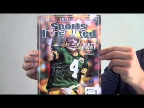 Signed Brett Favre Sports Illustarted Magazine - Special Tribute Edition - Favre Holo & JSA/SM