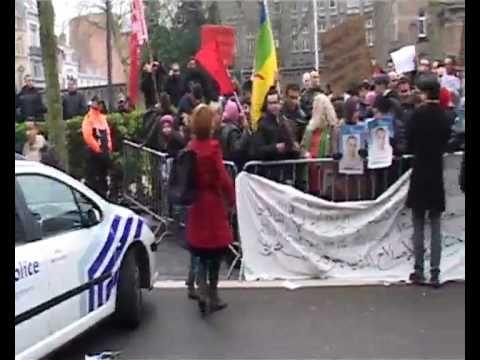 manifestation ambassade Maroc Bruxelles 20 février 2011