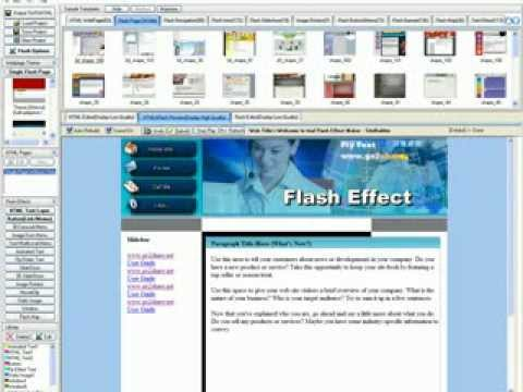 build a flash website in 7 minuts - easily create a flash website with FLASH WEBSITE DESIGN