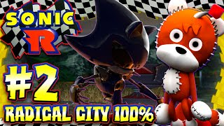 Sonic R - (HD) Part 2 - Radical City 100% All Coins, Chaos Emeralds, & Metal Sonic