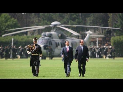 Ceremonia Oficial de Bienvenida al Presidente de Francia, François Hollande