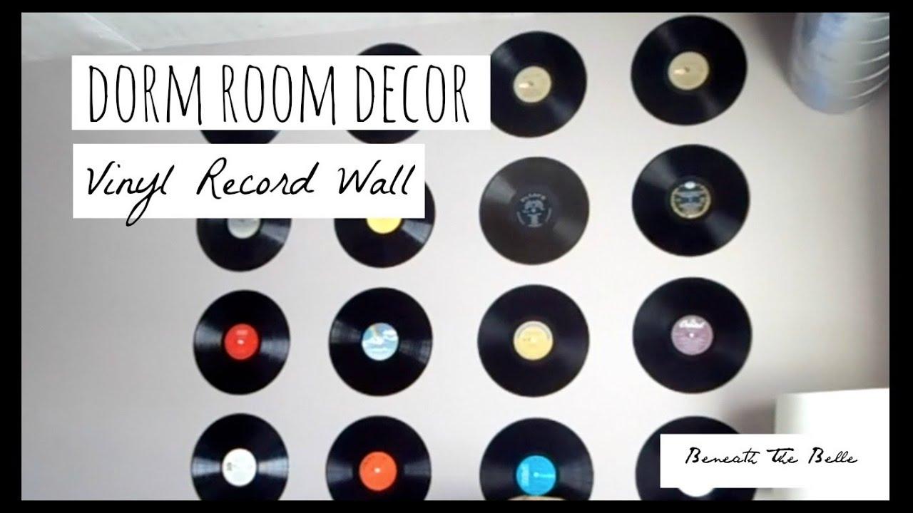Diy Vinyl Record Wall Art : Dorm room decor diy vinyl record wall