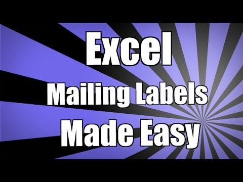 Create Mailing Labels from Your Excel 2010 data using Mail Merge in Word 2010