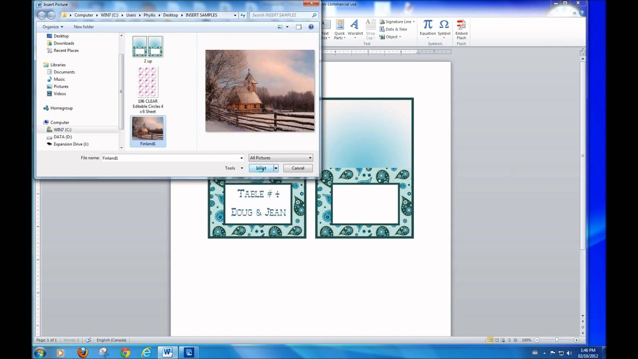 how to add text in an image with ms word youtube. Black Bedroom Furniture Sets. Home Design Ideas