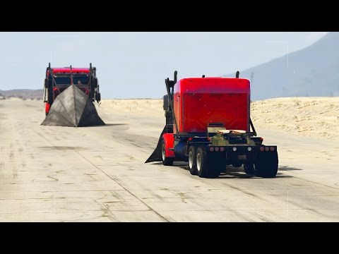 GTA 5 - PHANTOM TRUCK VS PHANTOM TRUCK