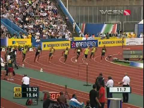 Usain Bolt wins 200 meter sprint Video