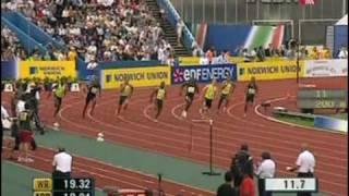 Usain Bolt wins 200 meter sprint