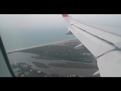 AirAsia India A320 landing at Chennai