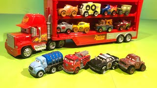 Learn How to Count with mini Disney cars Mr Drippy Lightning McQueen and red