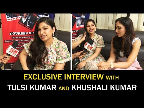 Playback singer Tulsi kumar and fashion designer khushali kumar are on the set