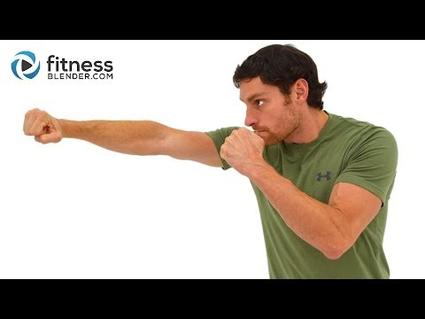 HIIT Cardio Kickboxing and Core Workout - 33 Minute Cardio and Abs Workout