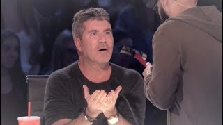 Contestant Pulls a HAMMER on Simon Cowell SMASHES Red Buzzer! | America's Got Talent 2017