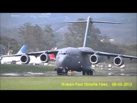 Aterrizaje / landing MD/Boeing C-17 Globemaster III en MROC / Costa Rica