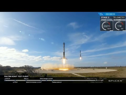 "Falcon Heavy Landing Compilation - ""Gravity Wave"""