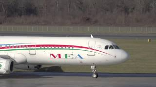 Beautiful A321 of Middle East Airlines, landing and takeoff !