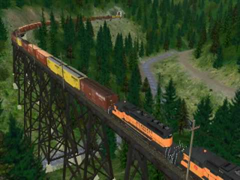 A presentation of TUME&#039;s Simulation of Milwaukee Road&#039;s transcontinental mainline through the Bitterroot&#039;s between Drexel, Mt and Avery, Id including Norther...