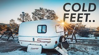 WINTER CAMPING - I'm getting cold feet ... // 13ft Scamp Trailer