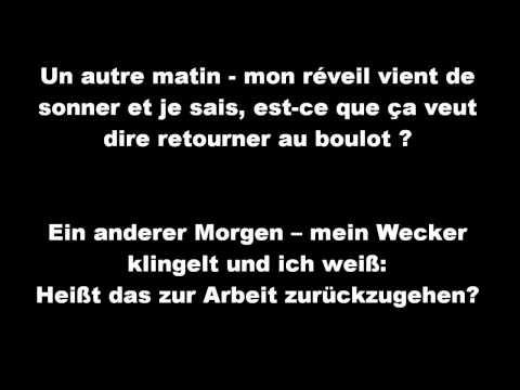 Irie Révoltés - Travailler - Lyrics (Deutsch/Französisch) - (Allemand/ Français)