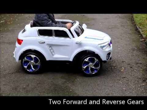 Kids 12v Bmw X6 Electric Style Ride On Car Youtube