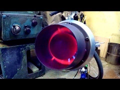 Играюсь с ТРД - старт реактивного двигателя через стекло крупным планом