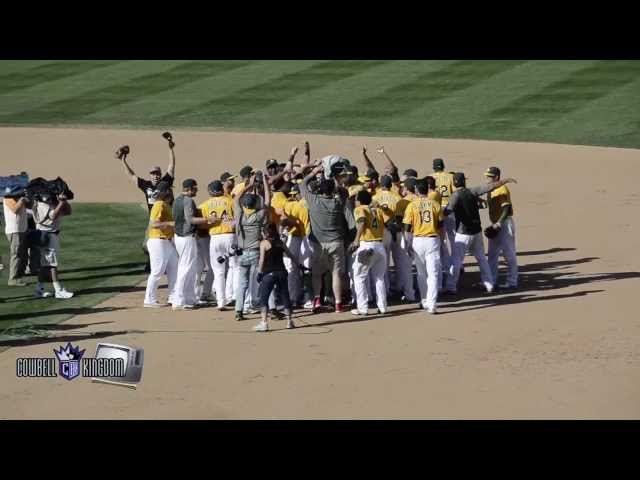 The Oakland Athletics win the 2012 AL West Title