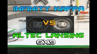 BOCINAS 6X9 Infinity KAPPA vs Altec Lansing / car audio