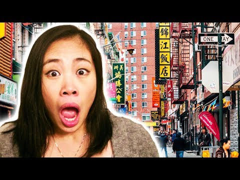 Mainland Chinese Girl's First Reaction to Chinatown in the USA