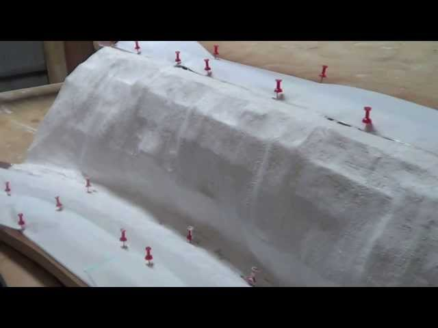 "Model Trains My HO CSX Railroad Part 22 'B' ""Plastering Mountains"""