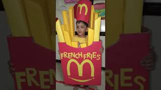 Fancy dress competition french fries!!!!!