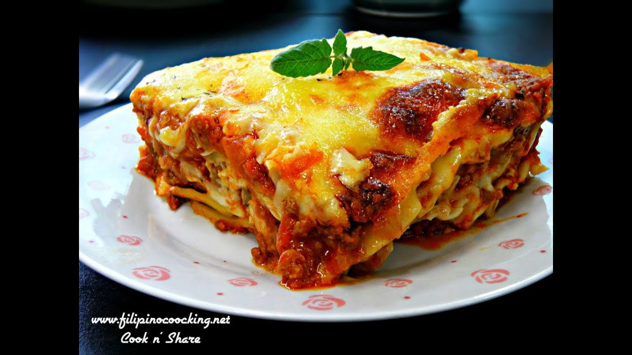 Baked lasagna youtube for Different kinds of lasagna recipes