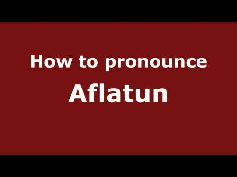 How To Pronounce Aflatun - Pronouncenames video