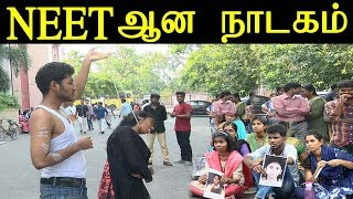 Neet protest at Madras University