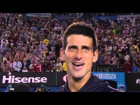 Novak Djokovic Gets Rla Singing 'happy Birthday' To His Mum - Australian Open 2015 video