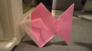 How To Make Cute Easy Gold Fish Origami きんぎょ金魚折り紙 Pez De Colores 金鱼 Siprin
