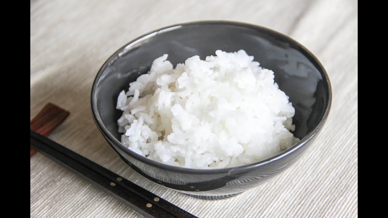 Steamed Rice Recipe - Japanese Cooking 101 - YouTube